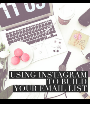 using IG to build your list
