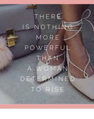woman determined to rise